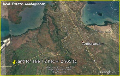 Sale land 10 km downtown Diego-Suarez