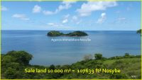 Sale land 1 hectare above  Palm Beach Nosybe