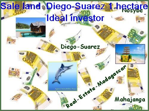 Sale land Diego-Suarez 107639 ft² Ideal investor.