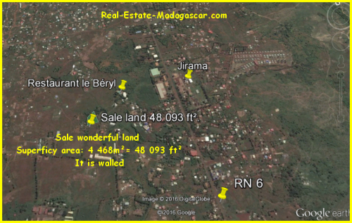 Sale wonderful land Antafiamalama Antanamitarana Diego-Suarez