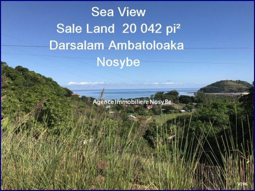 Nice building plot sea view Darsalam Ambatoloaka Nosybe Madagascar