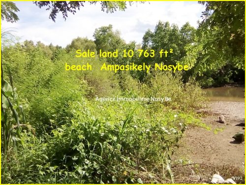 Sale land 10 763 ft² beach  Ampasikely Nosybe