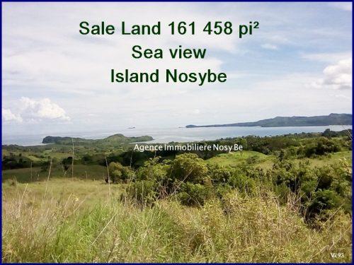 Madagascar North island Nosybe sea view sale beautiful land
