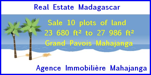Sale 10 plots land Grand Pavois Mahajanga