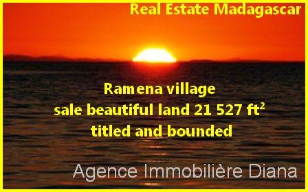 Ramena village sale beautiful land 21 527 ft² titled bounded