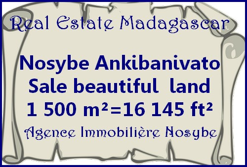 Nosybe Ankibanivato sale beautiful land 16 145 ft²