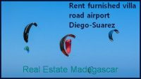Rent furnished villa road airport Diego-Suarez