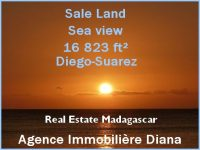 Sea view sale land 16823 ft² next Suarez hotel Diego-Suarez