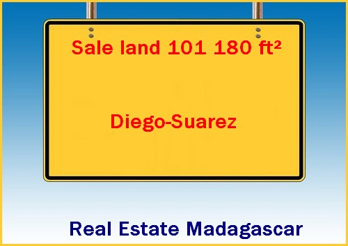 101180 ft² Sale land sea view direction Cap Diego Antsiranana
